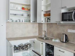 Vybavení kuchyně v plně vybavených apartmánech